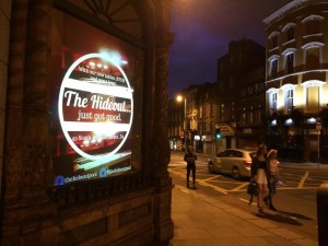 Our new screen based poster outside Avalon House!